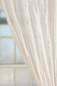 Gold And White Curtains Artistic Linen Geometric Flocked Linen 84 Inch Curtain Window