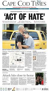 orlando shooting front pages from across the country gatehouse