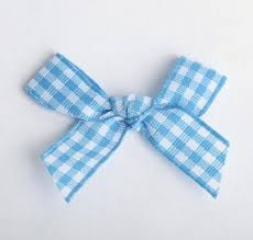 blue gingham ribbon buy time saving premade sweet gingham checked bows in sky blue and