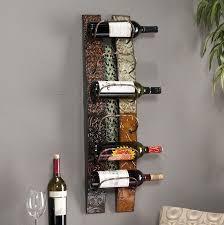 oak wall mounted wine rack home design ideas