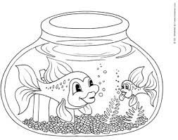 fishbowl coloring u2013 kinderart