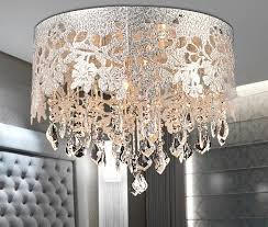 Chandelier Lamp Shades With Crystals Best 25 Drum Shade Chandelier Ideas On Pinterest Diy Drum Shade