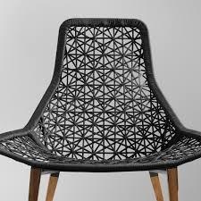 fauteuil en corde maia relax fauteuil de jardin piètement en kettal