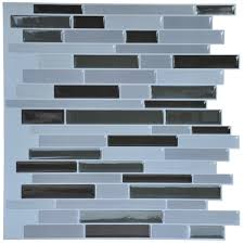 Self Adhesive Wall Tiles Peel And Stick Backsplash  Pcs  Sqft - Self stick backsplash
