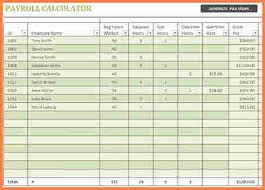 Excel Payroll Calculator Template 7 Payroll Spreadsheet Template Excel Excel Spreadsheets