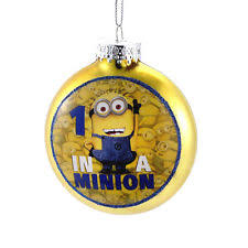 kurt adler 1 in a minion ornament with decal 80mm ebay