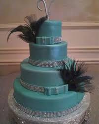 five layer tiffany blue wedding cake at royal palace banquet hall