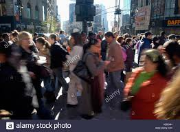 a crush of shoppers in herald square in nyc on black friday the