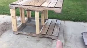 How To Build A Rabbit Hutch Out Of Pallets Part One Rabbit Condo Youtube