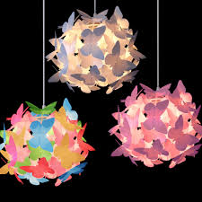 girls butterfly ceiling pendant light lamp shade chandeliers