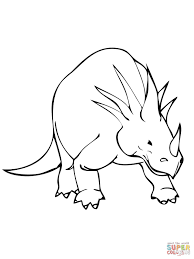 styracosaurus cretaceous period dinosaur coloring page free