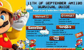 target black friday amiibo the 11th of september amiibo survival guide nintendo wire