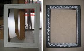 How To Make A Frame For A Bathroom Mirror by Diy Framed Chalkboard Medicine Cabinet Jenna Burger