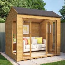 Summer House Garden - monte carlo wooden summerhouse sunroom range with french doors