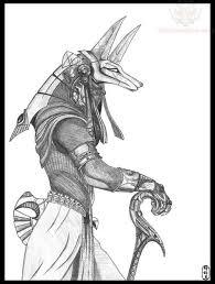 Anubis Tattoo Ideas Classic Black And Grey Anubis Tattoo Design