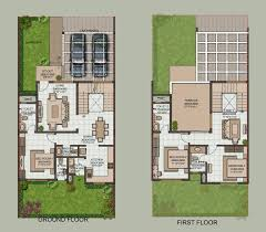 Row House Floor Plan by Row House Floor Plans Bangalore