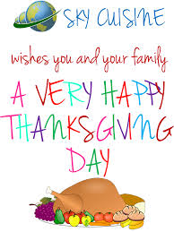 sky cuisine wishes you and your family a happy thanksgiving