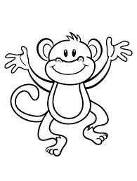 printable monkey coloring pages murderthestout