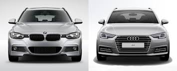 bmw 3 vs audi a4 side by side bmw 3 series sports wagon vs audi a4 avant bmw