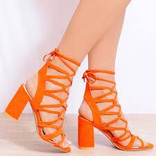 shoe closet ladies morgan 1 orange strappy sandals shoe closet