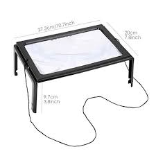 hands free lighted magnifier foldable led lighted magnifier reading light hands free rectangular