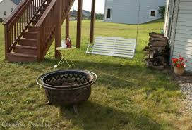 Firepit Swing by Refinished Porch Swing With White Stain Creative Ramblings