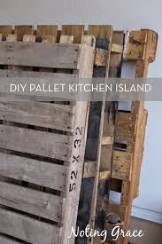 pallet kitchen island diy kitchen island made of pallets curbly