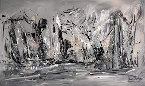 Tableau Abstrait Rouge Et Gris by 48 Grand Original Or Gris Noir Blanc Peinture Sur Toile Art