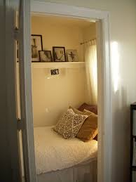 Tiny Bedrooms Wow A Walk In Closet Turned Bedroom I Could Convert The Tiny