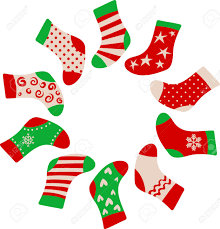 christmas stockings framed template royalty free cliparts vectors