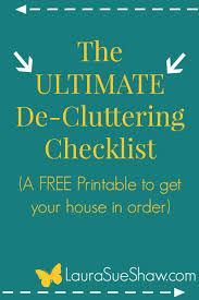 the ultimate de cluttering checklist
