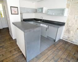 plan de travail cuisine en béton ciré cuisine plan de travail beton idée de modèle de cuisine