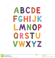 vector cartoon alphabet white background cute abc design for book