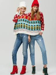 2017 graphic two person sweater one size in sweaters