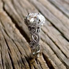 moissanite vintage engagement rings forever classic moissanite engagement ring in 14k white gold with