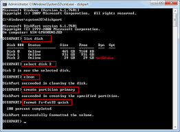 diskpart format abort diskpart format usb with command prompt