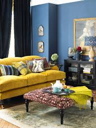 blue and yellow living room decor blogbyemy com