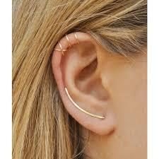 ear earrings modern minimalist set of 3 smooth ear climbers ear cuff