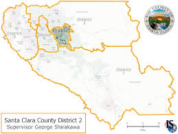 Cupertino Map County Supervisor Santa Clara County Supervisorial District 2