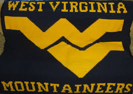 West Virginia travel printer images Crocheted west virginia mountaineers wvu blanket this one took jpg