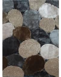 Modern Shaggy Rugs Big Deal On Grey Beige Handmade Modern Shaggy Rug 4 X 5 4