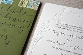 Wedding Invitations Chicago Megan Mike U0027s Modern Organic Chicago Wedding Invitations