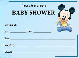 free printable mickey mouse baby shower invitation template baby