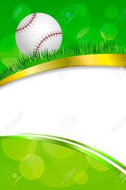 baseball ribbon background abstract green sport white baseball white gold