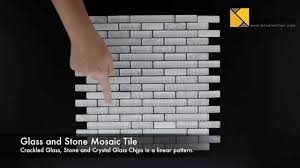 linear crackled glass tile snow white 23019898 youtube