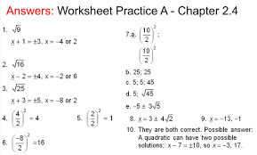 answers to practice a practice b chapter 2 4 worksheet mr van