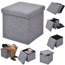 fabric storage cube ottoman folding storage cube fabric ottoman seat stool box footrest clothes
