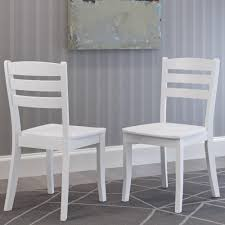 White And Wood Dining Chairs Home Styles Rubbed White Wood Double X Back Dining Chair Set Of 2