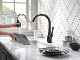 Bronze Pull Down Kitchen Faucet Faucet Com 9178 Rb Dst In Venetian Bronze By Delta