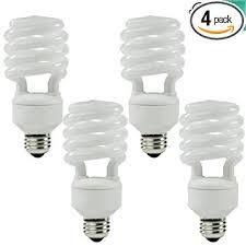 T2 Fluorescent Light Fixtures Luxrite Lr20200 4 Pack 23 Watt Cfl T2 Mini Spiral Light Bulb